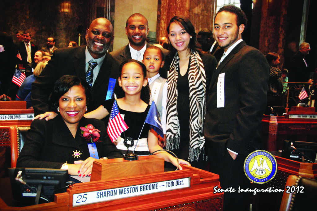 Senate inauguration with family - left to right - Husband_Marvin
