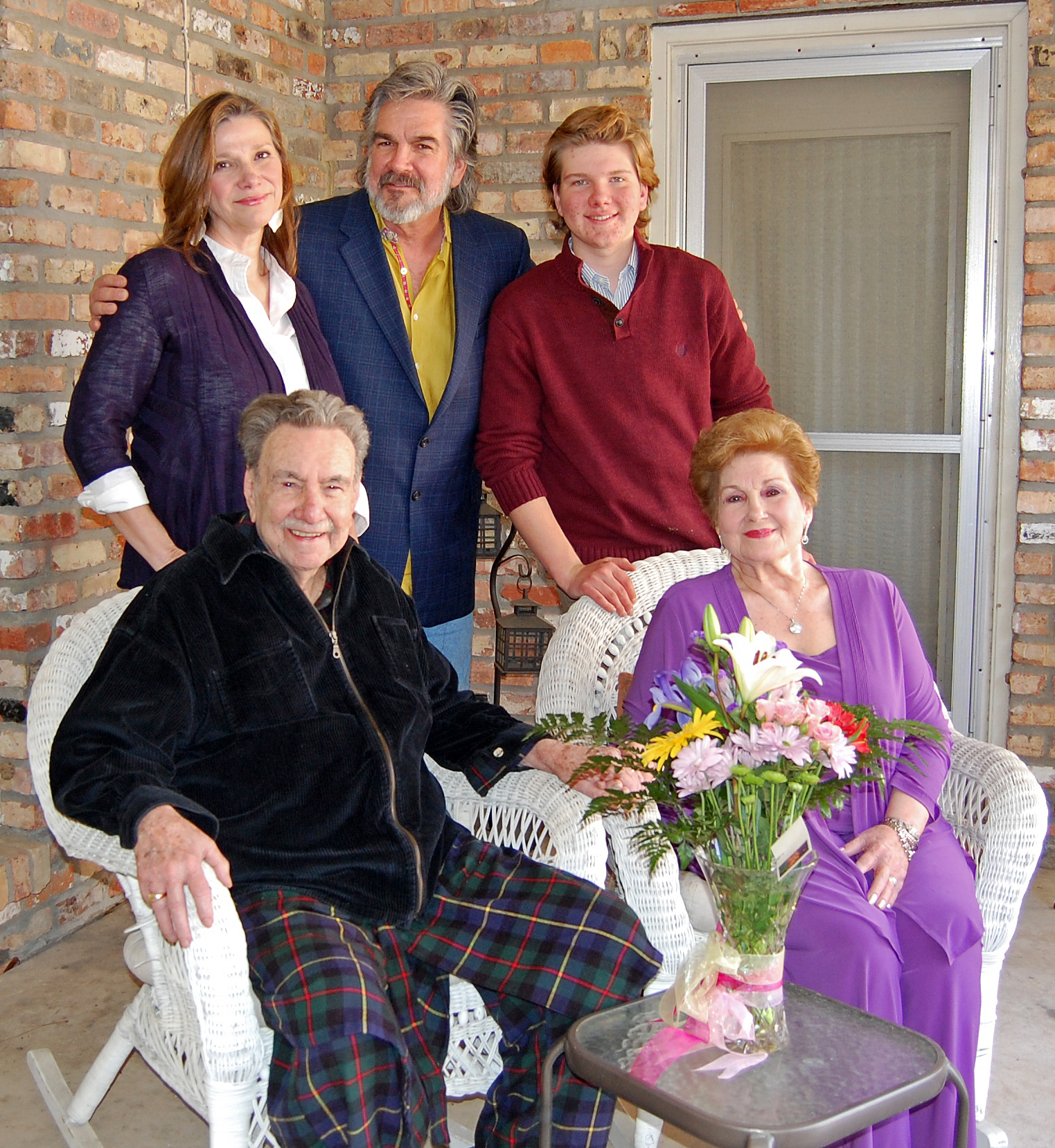 Linda, Jim and James Linden with 'T. Med' and 'Mae Mae' Hogg at their Baton Rouge home. Photo by Mark H. Hunter
