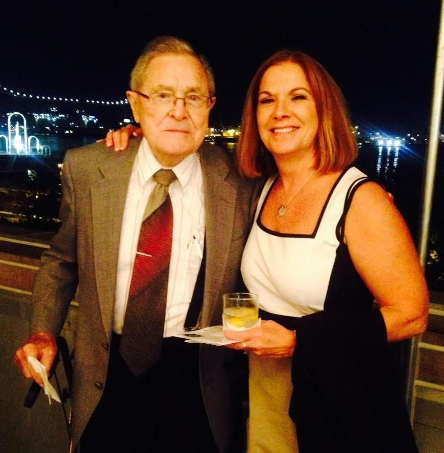HOPE Ministries CEO Janet Simmons received the John W. Barton Sr. Excellence in Nonprofit Management Award from Baton Rouge Area Foundation. She is pictured here with her father, Dr. Ralph Calcote.