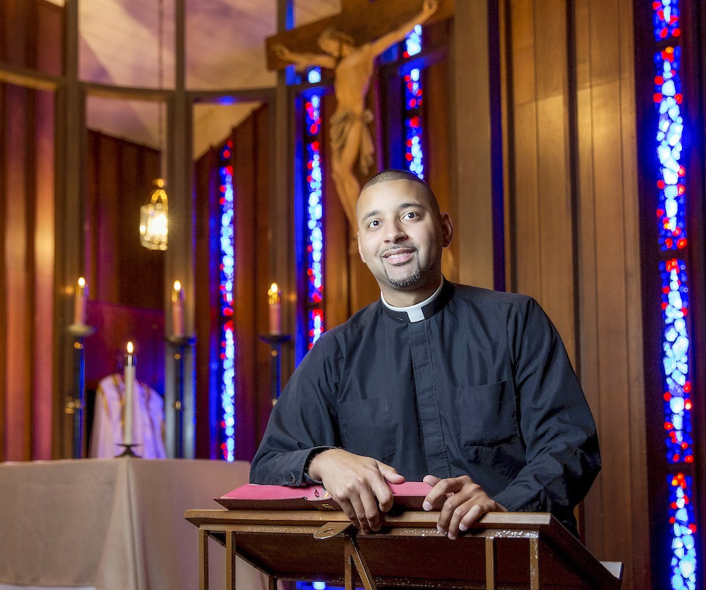 Father Joshua Johnson, Parochial Vicar at St. Aloysius Church.