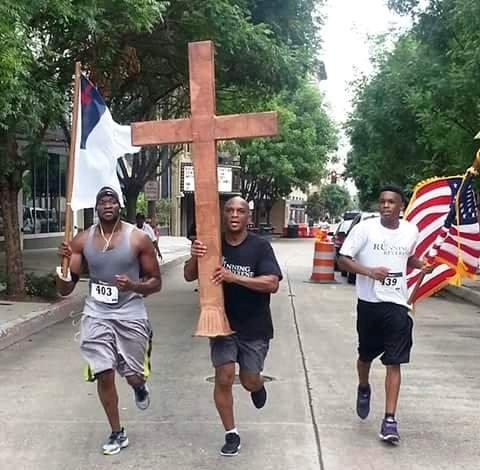 Pastor White in the Running Reverend Race.
