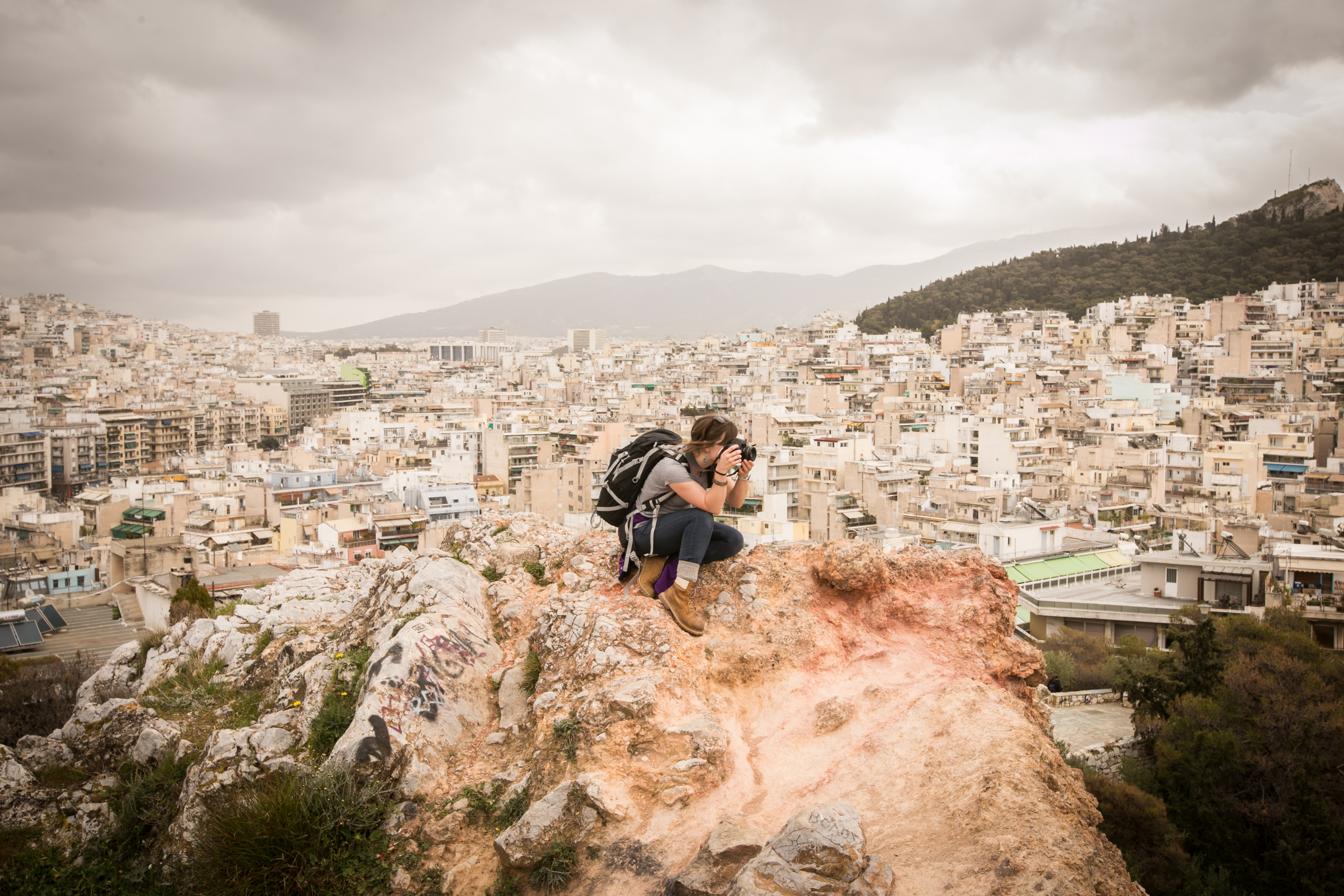 Claire Hutchinson photographs the Athens, Greece skyline.