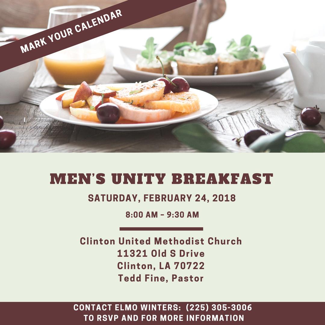 February 2018 Men's Unity Breakfast @ The Church of Baton Rouge   Baton Rouge   Louisiana   United States