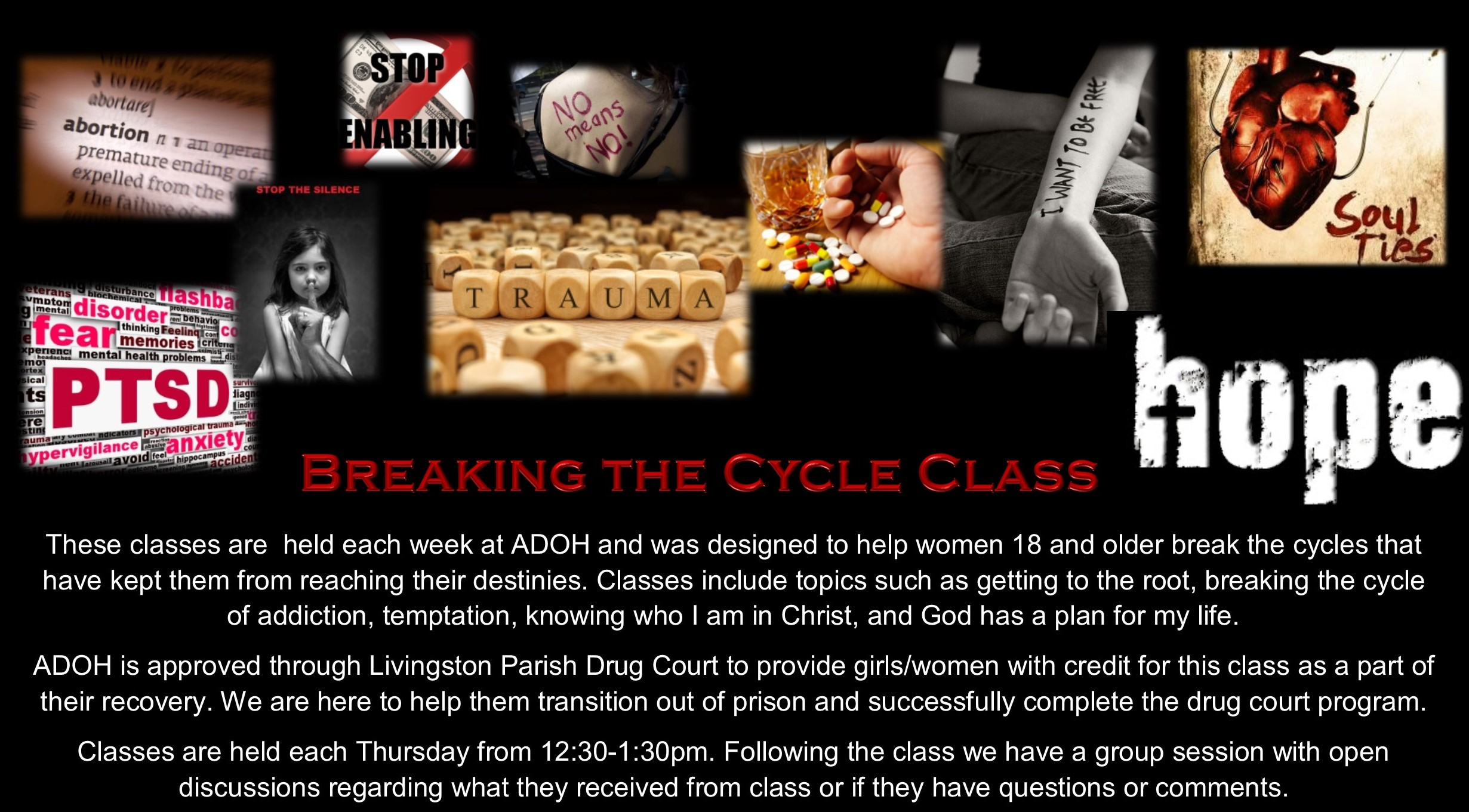 A Door of Hope Class:  Breaking the Cycles @ A Door of Hope | Livingston | Louisiana | United States